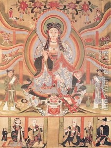 crbst buddhist-banner-depicting-dizang-and-the-six-roads-to-rebirth 2c-from-dunhuang